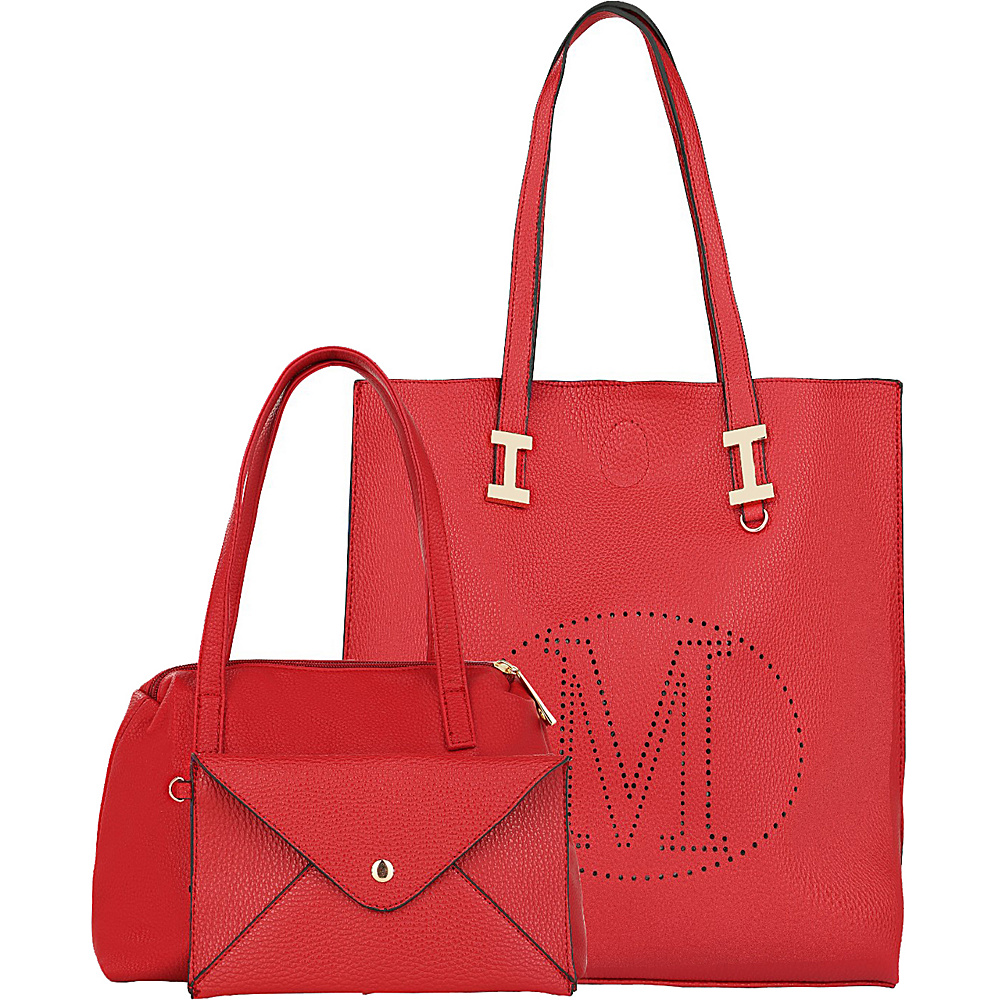 MKF Collection Mackenzie 3 In 1 Tote Red - MKF Collection Manmade Handbags - Handbags, Manmade Handbags