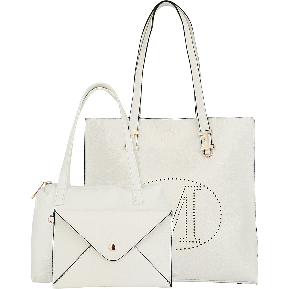 MKF Collection by Mia K. Farrow Mackenzie 3 In 1 Tote White - MKF Collection by Mia K. Farrow Manmade Handbags - Handbags, Manmade Handbags