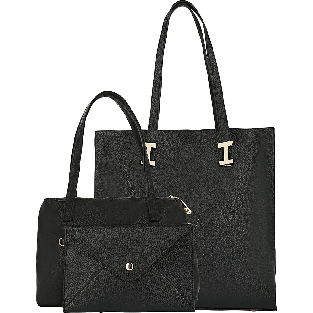 MKF Collection Mackenzie 3 In 1 Tote Black - MKF Collection Manmade Handbags - Handbags, Manmade Handbags