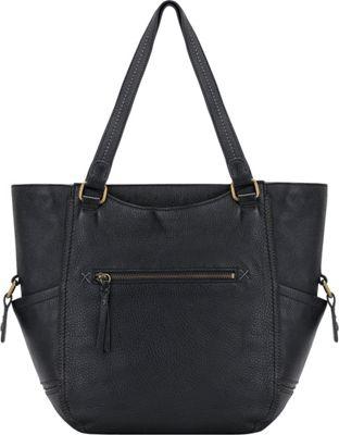 The Sak Kendra Work Tote- Seasonal Colors Black - The Sak Leather Handbags