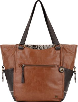 The Sak Kendra Work Tote- Seasonal Colors Brown Snake Multi - The Sak Leather Handbags