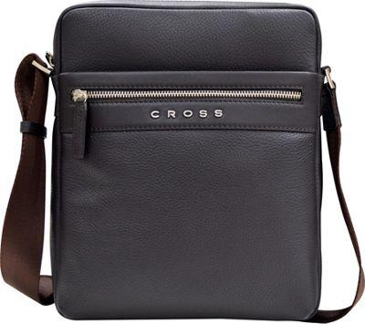 Cross Men's Nueva FV Leather Crossbody Bag for iPad Oak Brown - Cross Travel Shoulder Bags