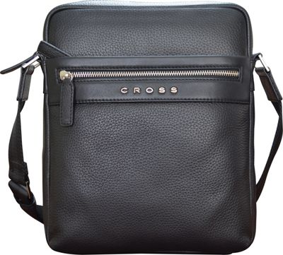 Cross Men's Nueva FV Leather Crossbody Bag for iPad Black - Cross Travel Shoulder Bags