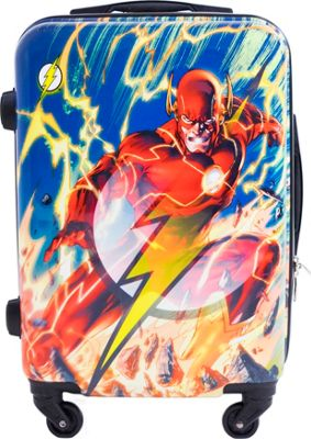 DC Comics Flash 21 Inch Spinner Rolling Carry-On MULTI COLOR - DC Comics Hardside Carry-On