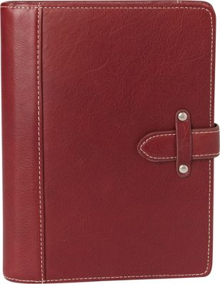 Franklin Covey Classic Aurora Leather Binder Red - Franklin Covey Business Accessories