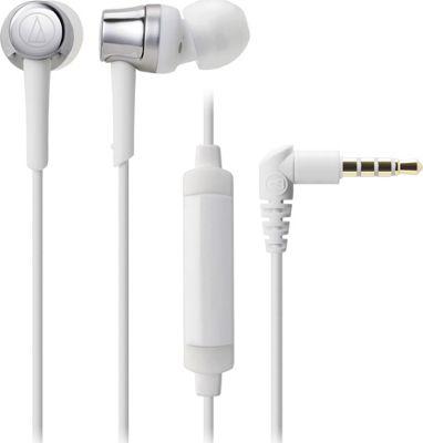 Audio Technica SonicFuel In-Ear Headphones with In-line Mic & Control Silver - White - Audio Technica Headphones & Speakers