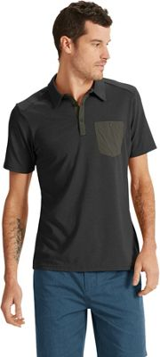 NAU Clothing Mens Short Sleeve Wander Polo S - Caviar - NAU Clothing Men's Apparel