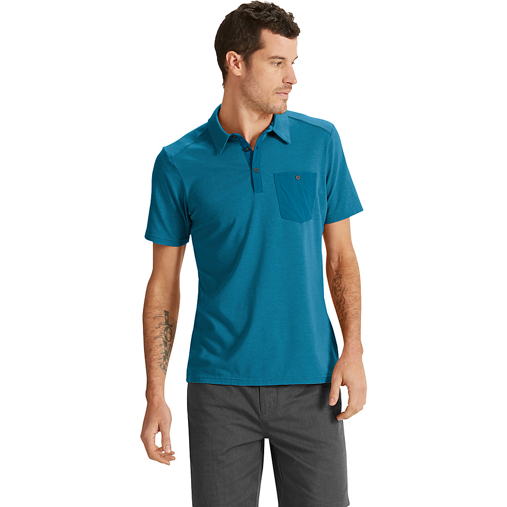NAU Clothing Mens Short Sleeve Wander Polo S - Nomad - NAU Clothing Mens Apparel - Apparel & Footwear, Men's Apparel