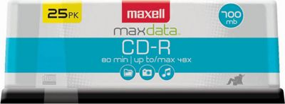 Maxell CD-R 700MB Write Once Recordable Disc