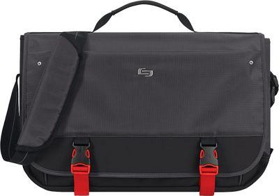SOLO Covert 15.6 inch Messenger Black - SOLO Laptop Messenger Bags