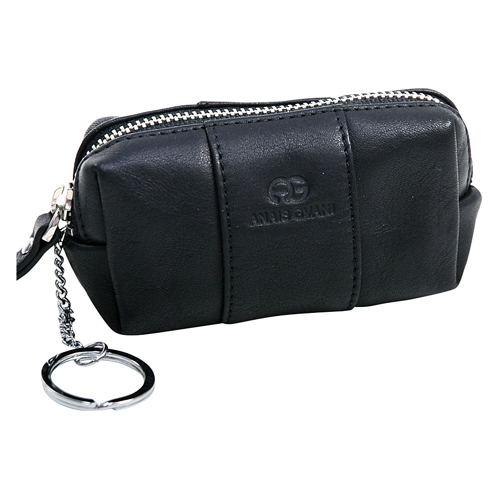 Dasein Multifunctional Pouch with Inside Attached Key Chain Black - Dasein Womens Wallets - Women's SLG, Women's Wallets