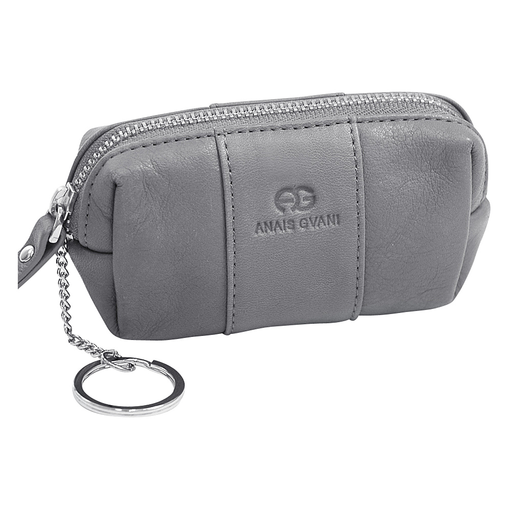 Dasein Multifunctional Pouch with Inside Attached Key Chain Grey - Dasein Womens Wallets - Women's SLG, Women's Wallets