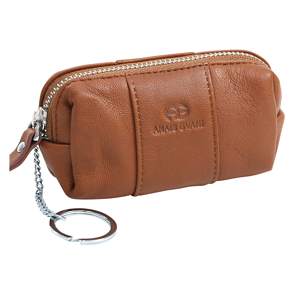 Dasein Multifunctional Pouch with Inside Attached Key Chain Brown - Dasein Womens Wallets - Women's SLG, Women's Wallets