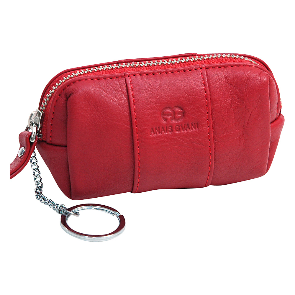 Dasein Multifunctional Pouch with Inside Attached Key Chain Red - Dasein Womens Wallets - Women's SLG, Women's Wallets