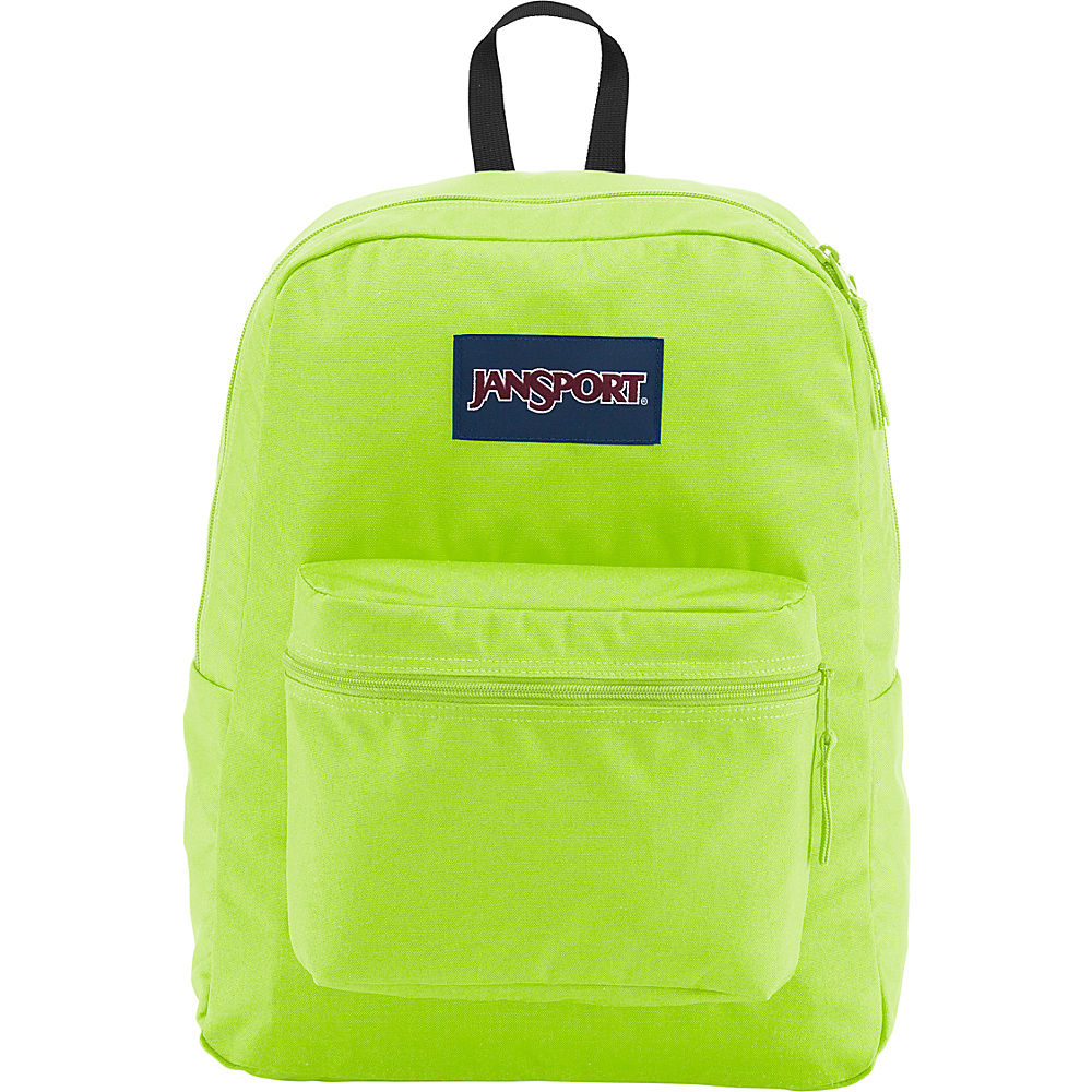 JanSport Exposed Backpack Neon Yellow - JanSport School & Day Hiking Backpacks