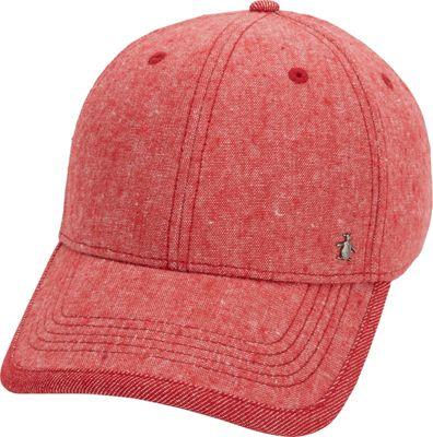 Original Penguin Chambray Baseball Cap One Size - Samba Red - Original Penguin Hats