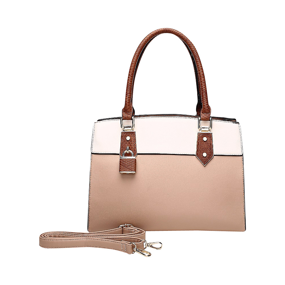 MKF Collection Alicia Satchel Apricot - MKF Collection Manmade Handbags - Handbags, Manmade Handbags