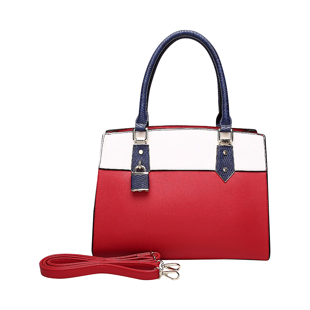 MKF Collection by Mia K. Farrow Alicia Satchel Red - MKF Collection by Mia K. Farrow Manmade Handbags - Handbags, Manmade Handbags