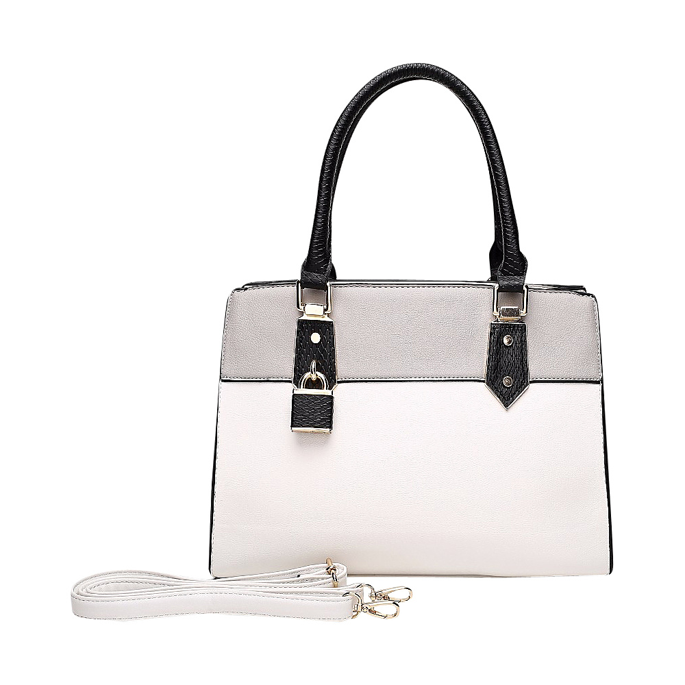 MKF Collection by Mia K. Farrow Alicia Satchel White - MKF Collection by Mia K. Farrow Manmade Handbags - Handbags, Manmade Handbags