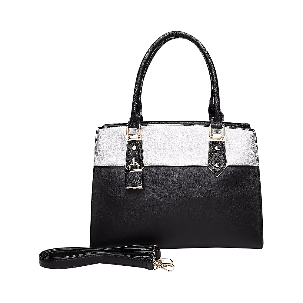 MKF Collection by Mia K. Farrow Alicia Satchel Black - MKF Collection by Mia K. Farrow Manmade Handbags - Handbags, Manmade Handbags
