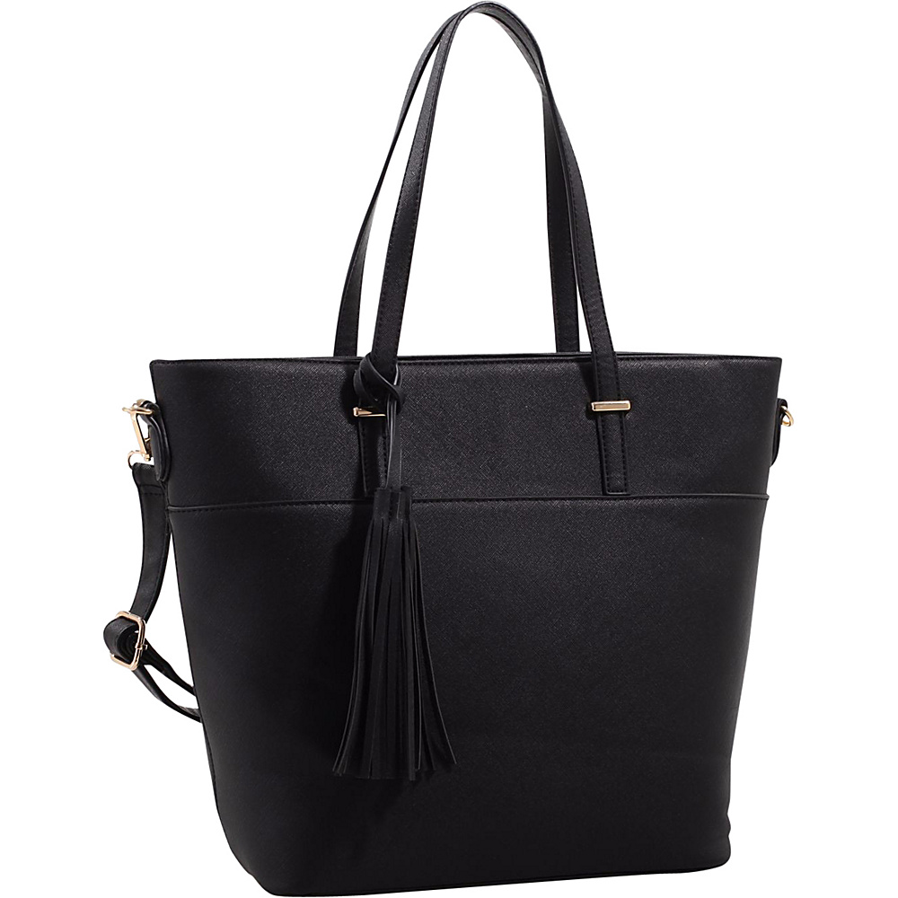 MKF Collection by Mia K. Farrow Gabriella Two Toned Tote Black - MKF Collection by Mia K. Farrow Manmade Handbags - Handbags, Manmade Handbags