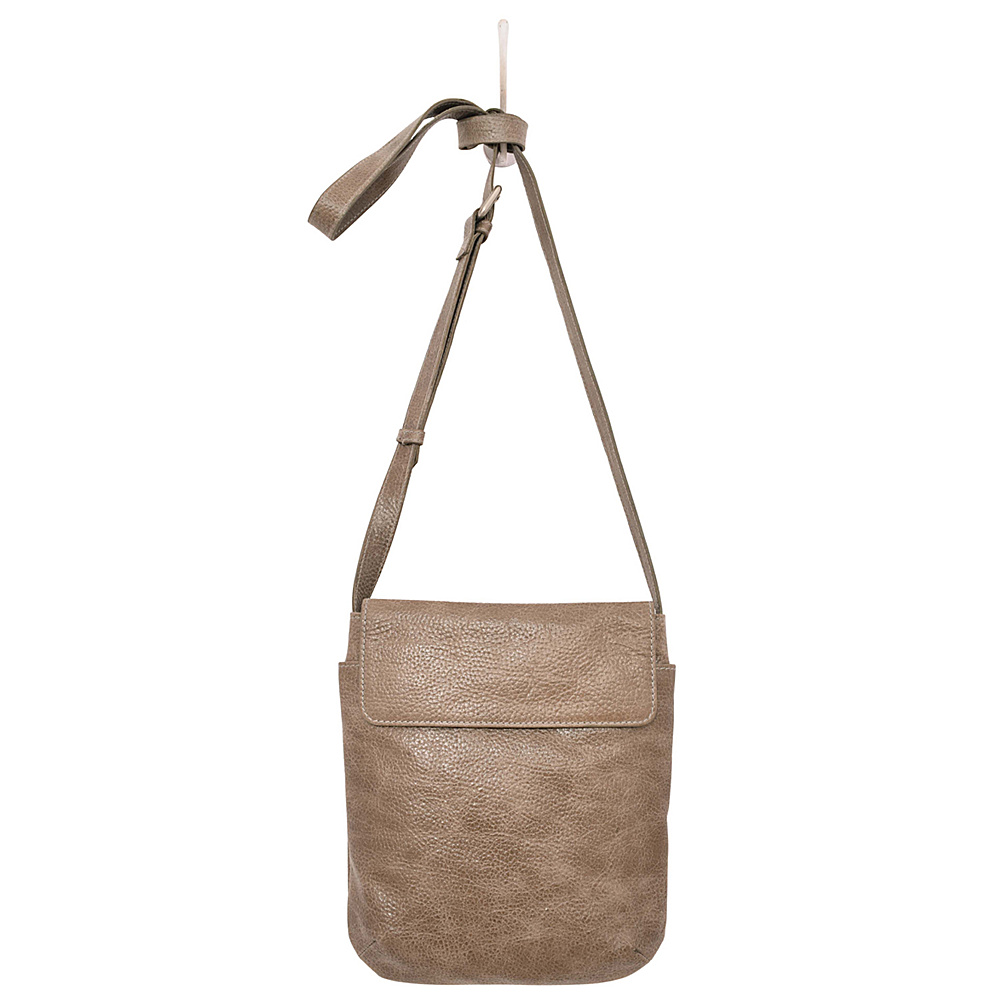 Latico Leathers Shea Crossbody Pebble Steel - Latico Leathers Leather Handbags - Handbags, Leather Handbags