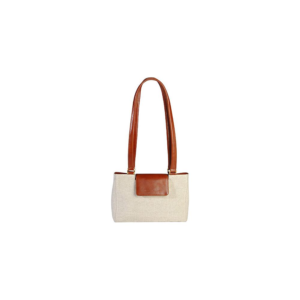 Derek Alexander Small E/W Tote Natural/Tan - Derek Alexander Fabric Handbags - Handbags, Fabric Handbags