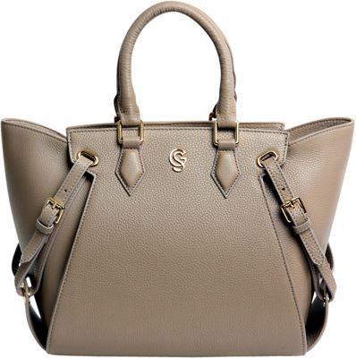 Gregory Sylvia Ramsey Satchel Taupe - Gregory Sylvia Leather Handbags