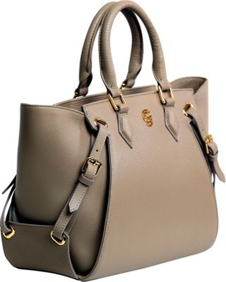 Gregory Sylvia Ramsey Satchel Taupe - Gregory Sylvia Leather Handbags
