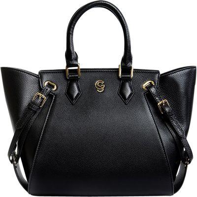 Gregory Sylvia Ramsey Satchel Black - Gregory Sylvia Leather Handbags