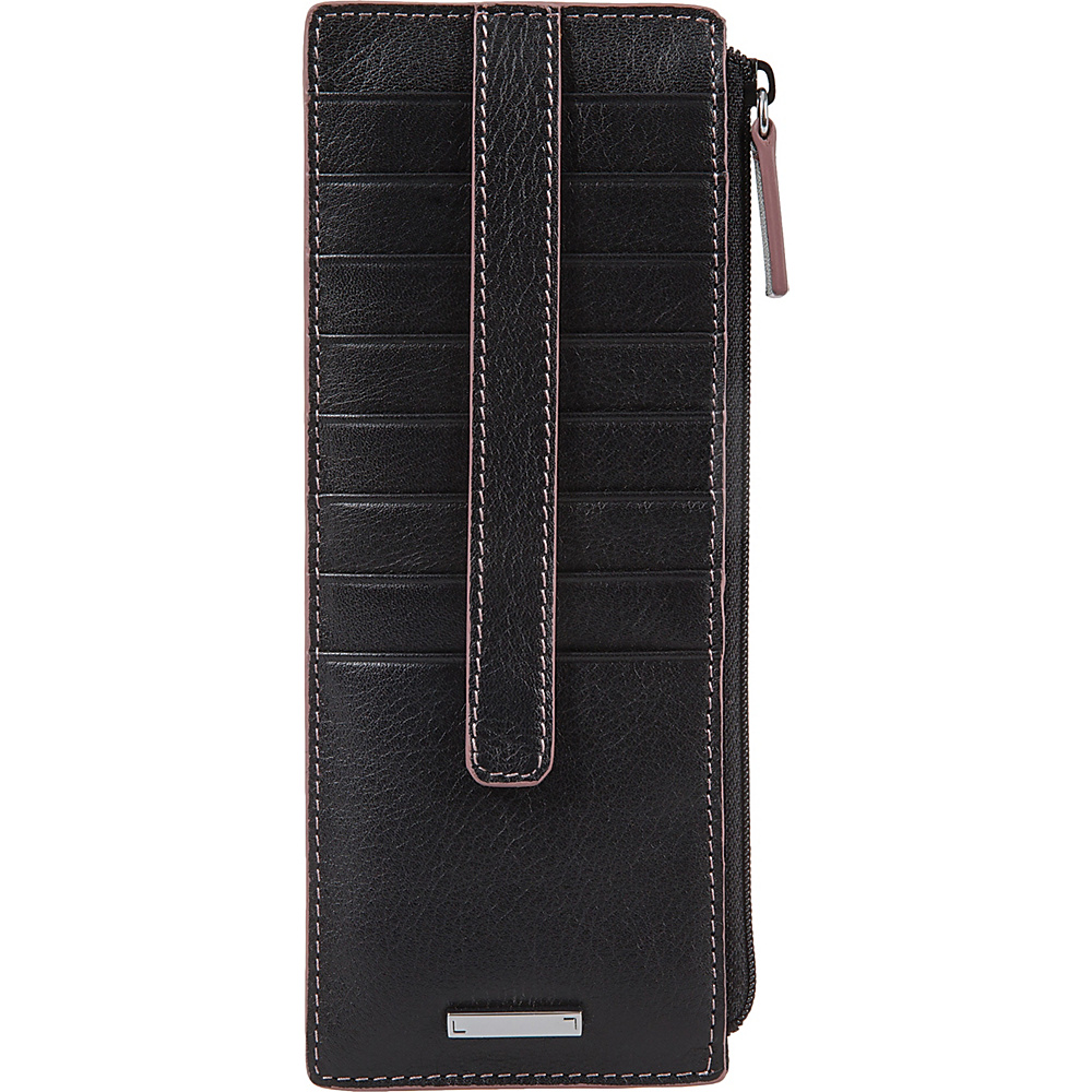 Lodis Mill Valley Under Lock & Key Credit Card Case with Zipper Pocket Black - Lodis Womens Wallets - Women's SLG, Women's Wallets