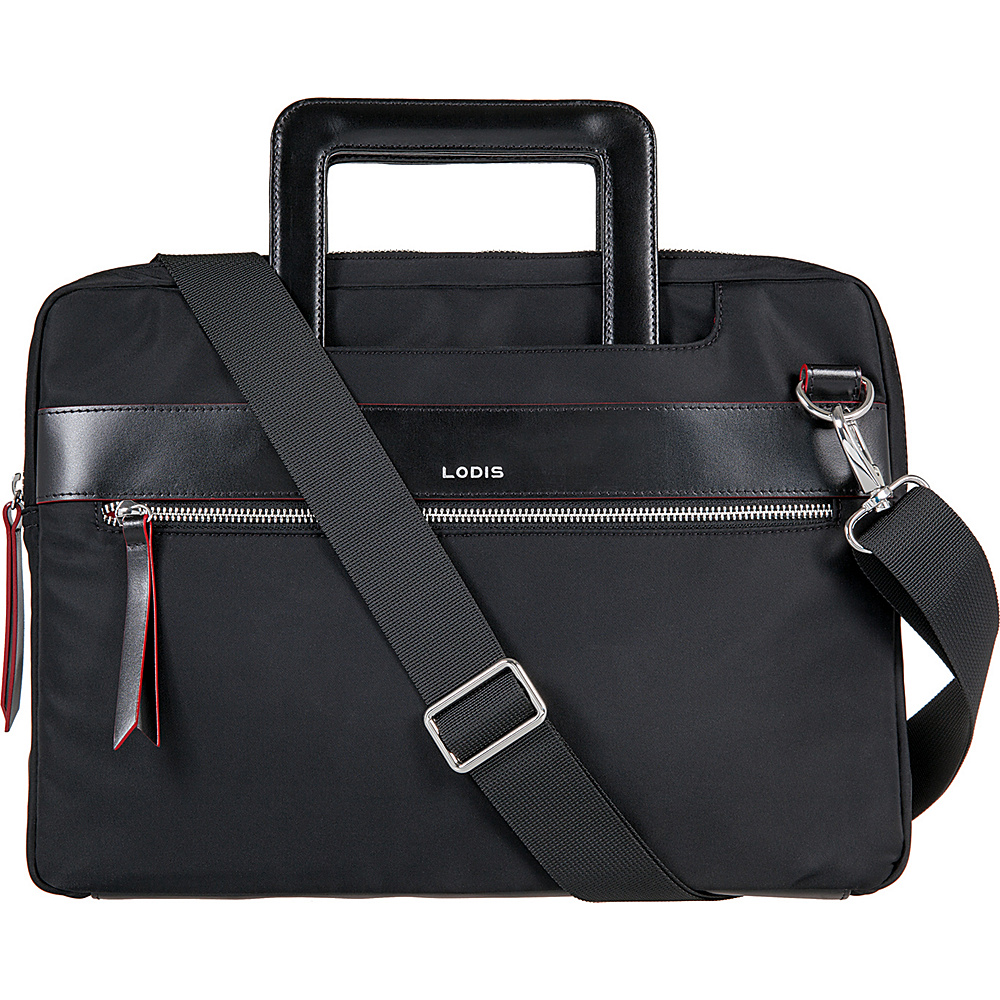 Lodis Kate Nylon Under Lock & Key Cora Laptop Crossbody Black - Lodis Laptop Messenger Bags - Work Bags & Briefcases, Laptop Messenger Bags