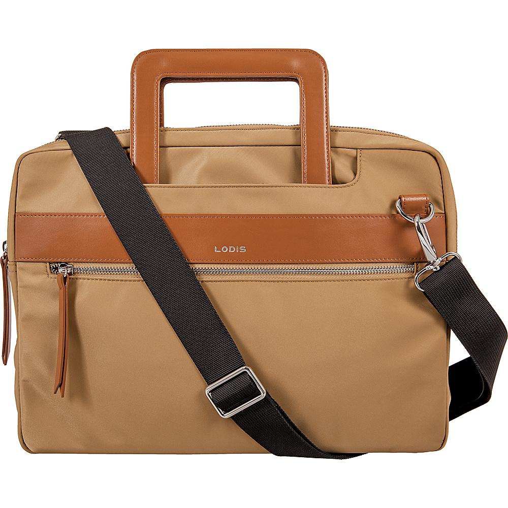 Lodis Kate Nylon Under Lock & Key Cora Laptop Crossbody Light Brown - Lodis Laptop Messenger Bags - Work Bags & Briefcases, Laptop Messenger Bags