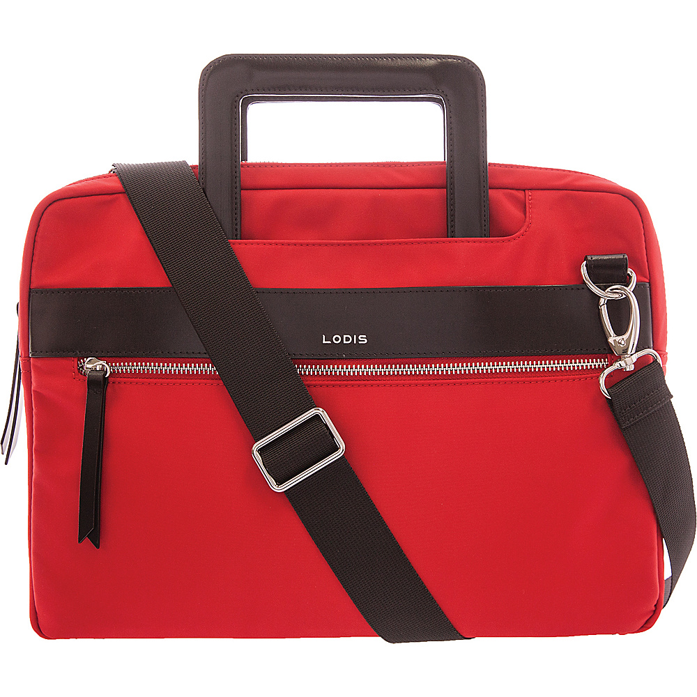 Lodis Kate Nylon Under Lock & Key Cora Laptop Crossbody Red - Lodis Laptop Messenger Bags - Work Bags & Briefcases, Laptop Messenger Bags