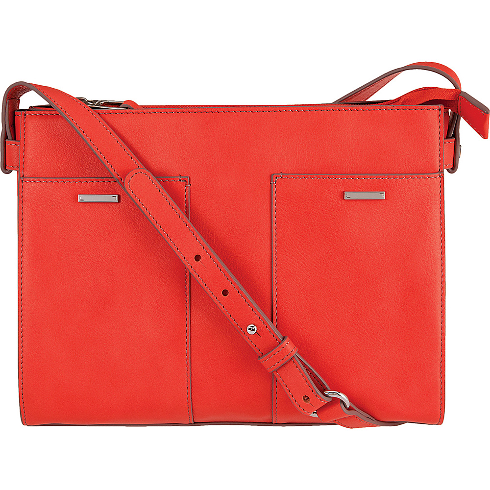 Lodis Mill Valley Under Lock & Key Hermione Crossbody Coral - Lodis Leather Handbags - Handbags, Leather Handbags