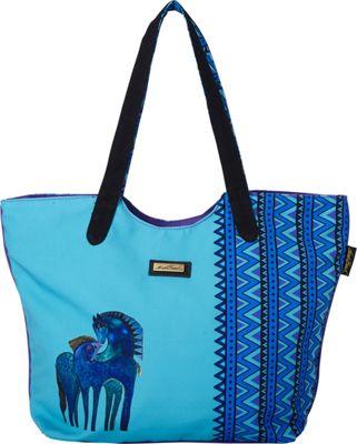 Laurel Burch Indigo Mares Scoop Tote Indigo Mares - Laurel Burch Fabric Handbags
