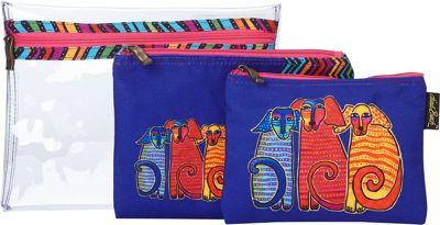 Laurel Burch Dog Tales Set of 3 Cosmetic Bags Dog Tales -...