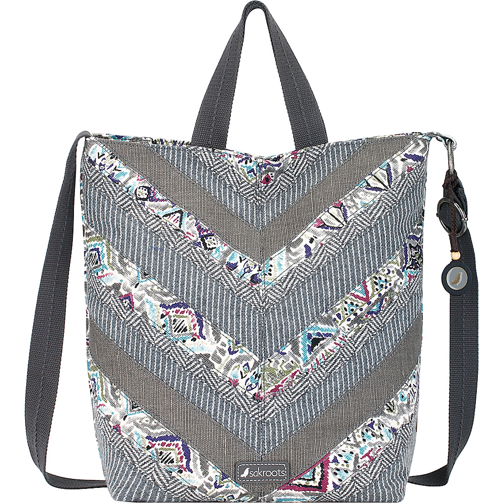 Sakroots Artist Circle Campus Tote- Seasonal Colors Slate Brave Beauti - Sakroots Fabric Handbags - Handbags, Fabric Handbags