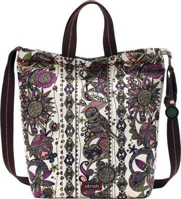 Sakroots Artist Circle Campus Tote- Seasonal Colors Ivory Spirit Desert - Sakroots Fabric Handbags