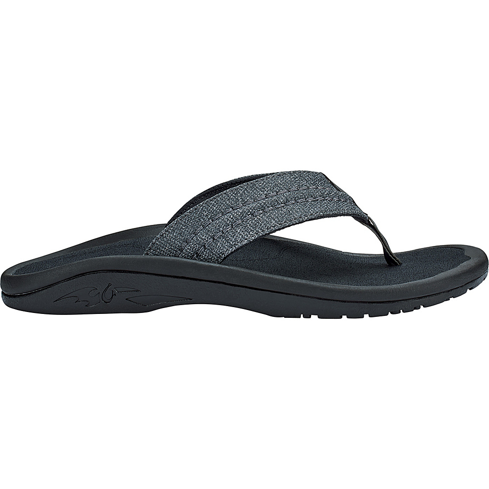 OluKai Mens Hokua Mesh Slip-On 14 - Dark Shadow/Dark Shadow - OluKai Mens Footwear - Apparel & Footwear, Men's Footwear