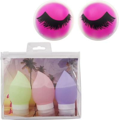 MyTagAlongs Beauty Essential Kit - Travel Bottles and Cooling Eye Pads Pink - MyTagAlongs Travel Comfort and Health
