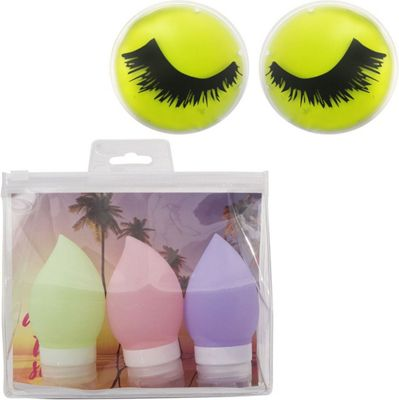 MyTagAlongs Beauty Essential Kit - Travel Bottles and Cooling Eye Pads Green - MyTagAlongs Travel Comfort and Health