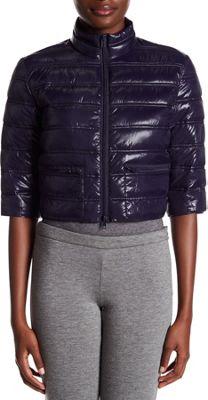 Rolo & Ale Jenn Cropped Puffer Jacket L - Navy - Rolo & Ale Women's Apparel