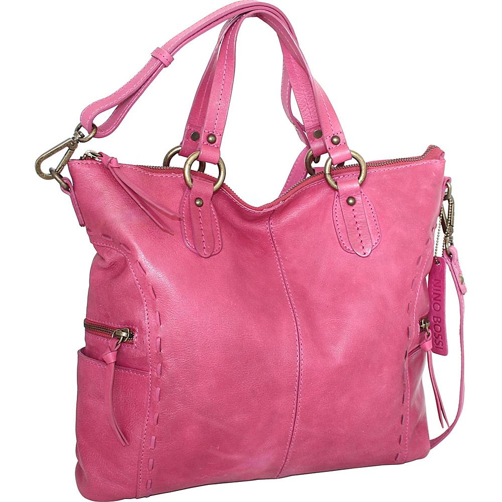Nino Bossi Adela Crossbody Fuchsia - Nino Bossi Leather Handbags - Handbags, Leather Handbags