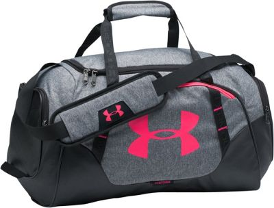 Under Armour Undeniable Small Duffle 3.0 Graphite Medium Heather/Gray/Penta Pink - Under Armour Gym Duffels