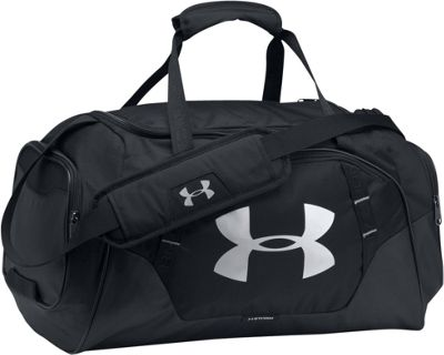 Under Armour Undeniable Small Duffle 3.0 Black/Black/Silver - Under Armour Gym Duffels