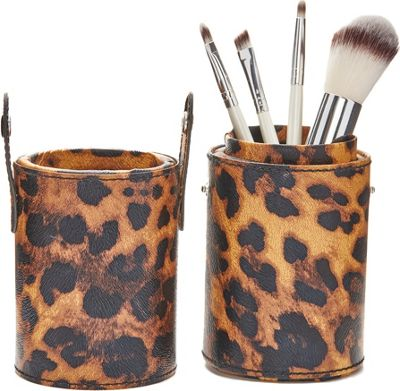 The LANO Company 4 Piece Brush Set with Snap-On/Snap-Off Travel Brush Case Leopard - The LANO Company Travel Comfort and Health