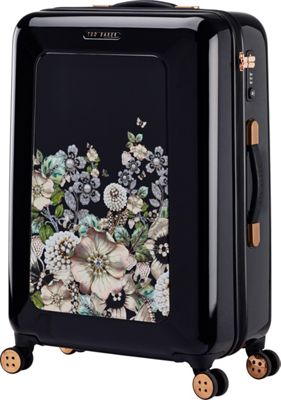 Ted Baker Luggage Gem Garden Medium Hardside Spinner Luggage Black - Ted Baker Luggage Large Rolling Luggage