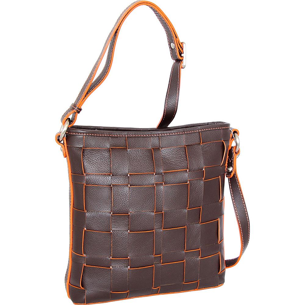 Nino Bossi Colleen Crossbody Chocolate - Nino Bossi Leather Handbags - Handbags, Leather Handbags