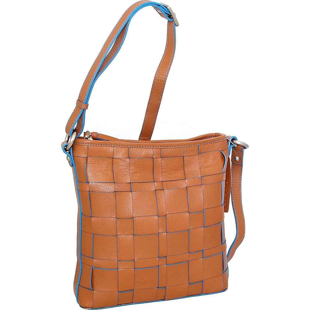 Nino Bossi Colleen Crossbody Cognac - Nino Bossi Leather Handbags - Handbags, Leather Handbags